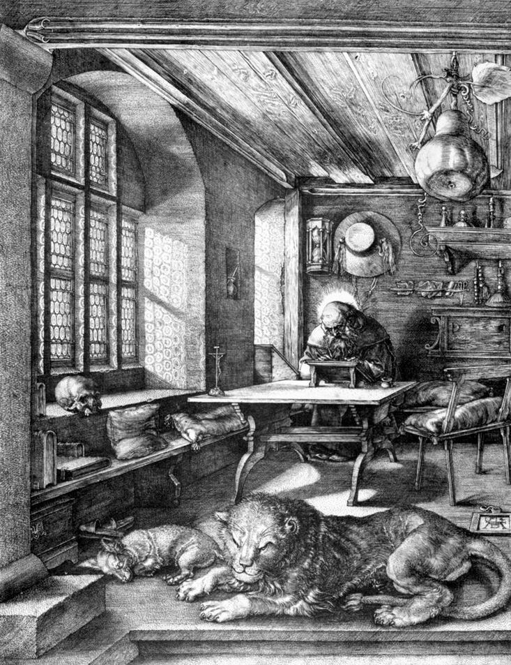 St Jerome in his study - Durer