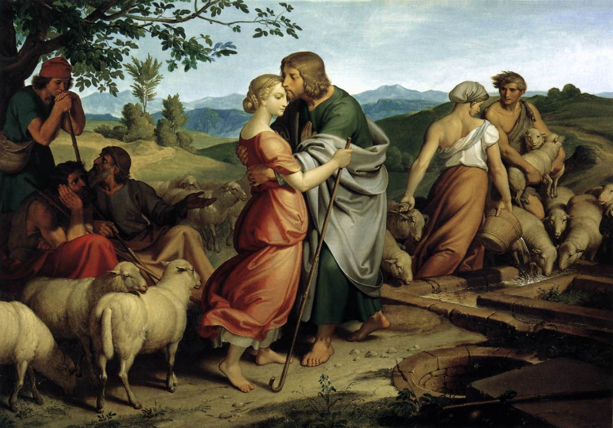 Führich, Jacob encountering Rachel, 1836